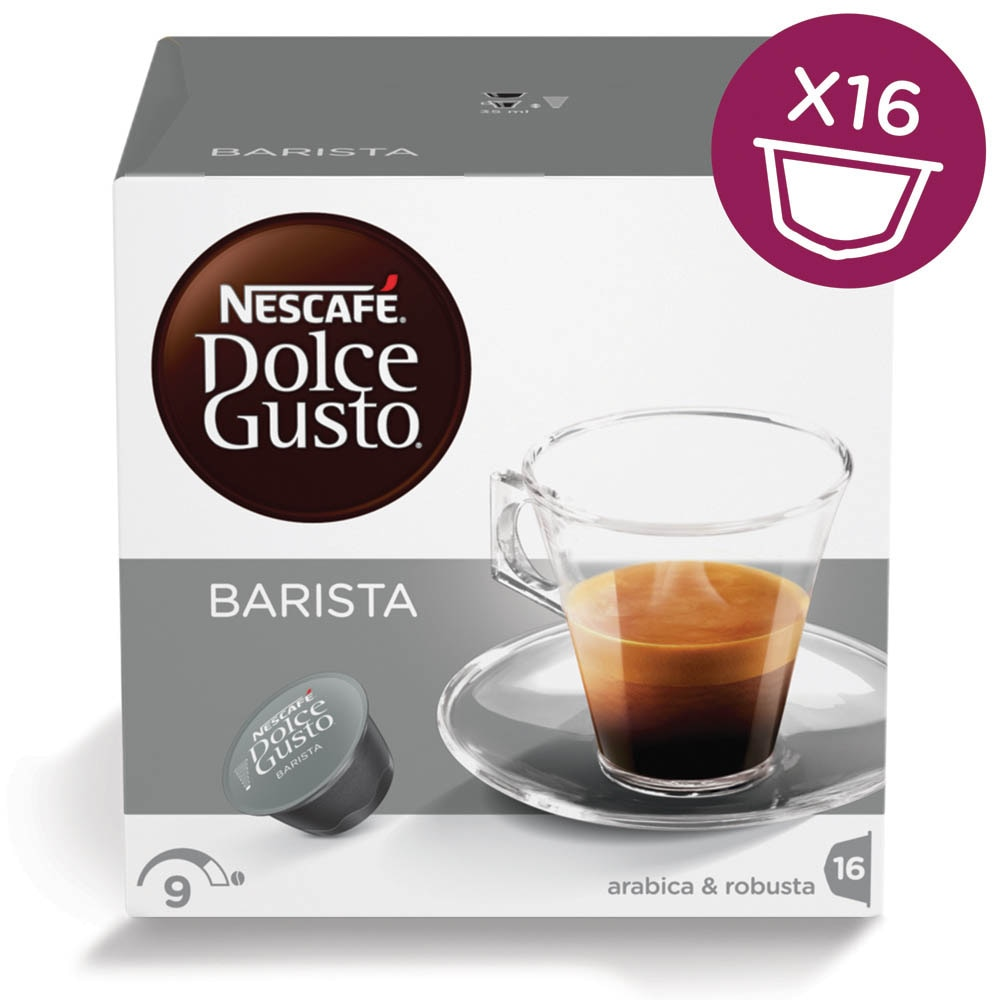 caf barista 16 capsules nescaf dolce gusto. Black Bedroom Furniture Sets. Home Design Ideas