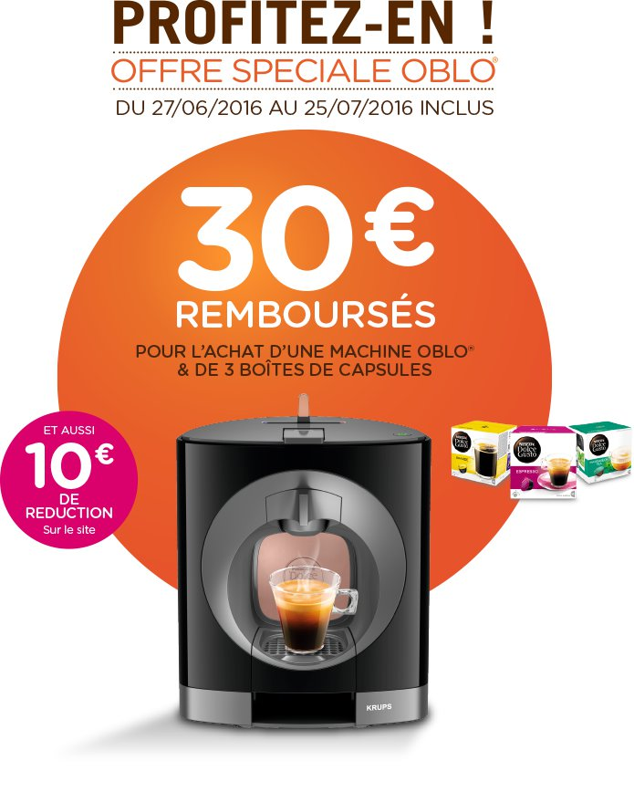 offre oblo nescaf dolce gusto. Black Bedroom Furniture Sets. Home Design Ideas